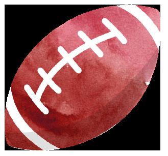 茶色いラグビーボール