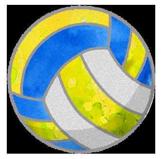 バレーボールのボールのイラスト