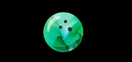 マーブル模様のボールのイラスト