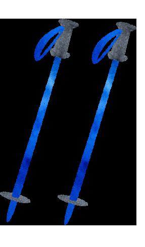 スキーストックのイラスト