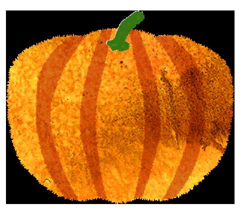 黄色いかぼちゃのイラスト