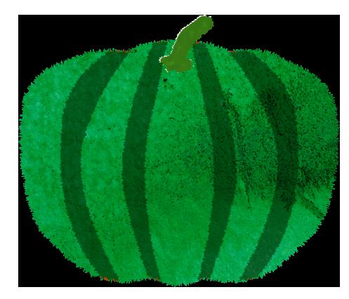 緑かぼちゃのイラスト