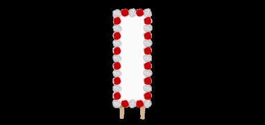 紅白バラの看板のイラスト